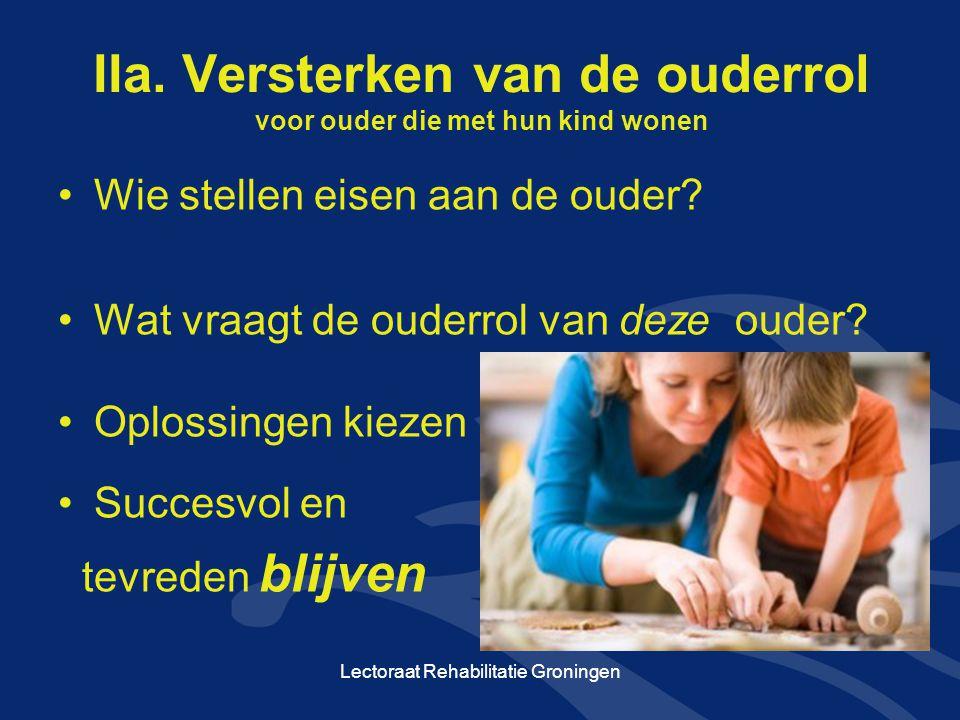 IIa. Versterken van de ouderrol voor ouder die met hun kind wonen