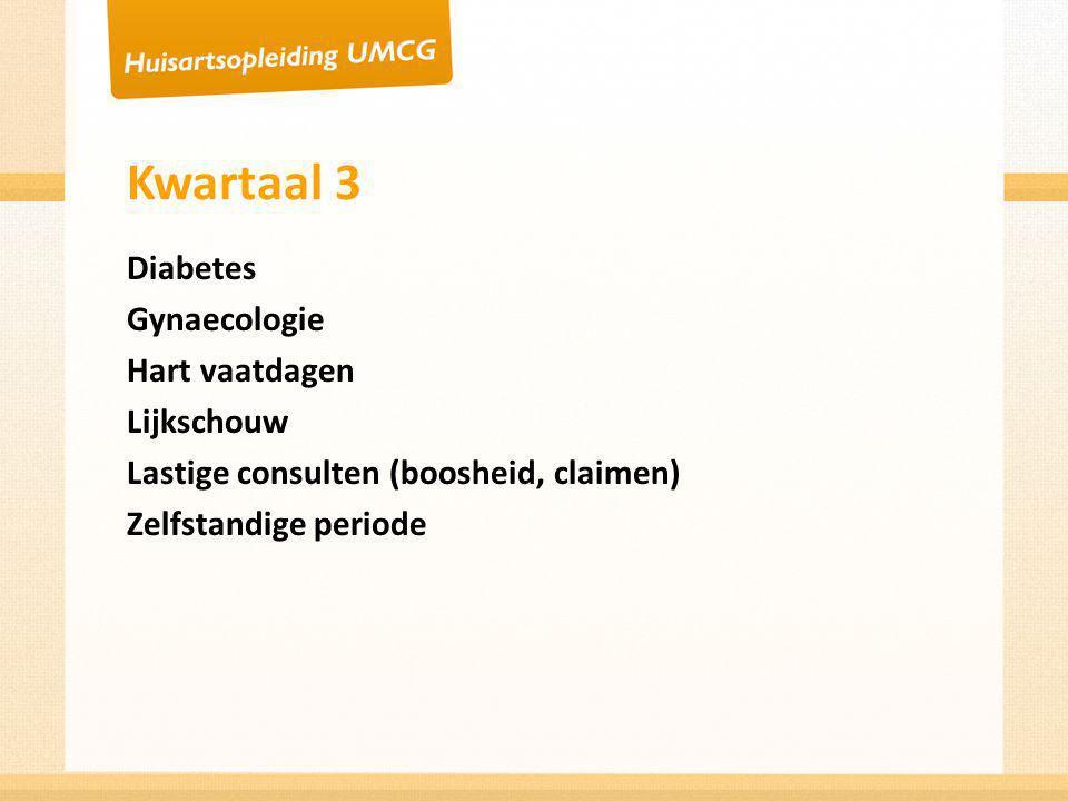 Kwartaal 3 Diabetes Gynaecologie Hart vaatdagen Lijkschouw