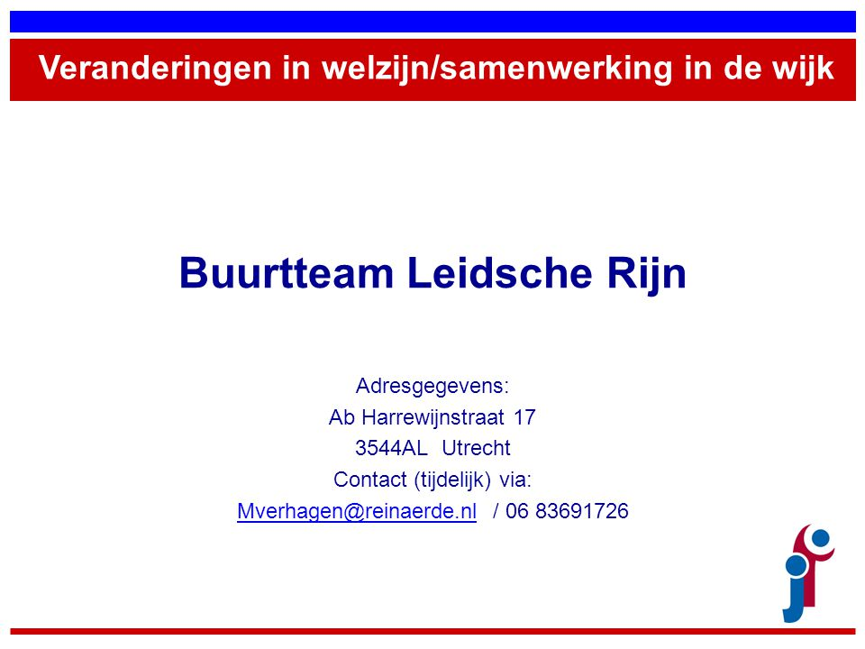 Buurtteam Leidsche Rijn