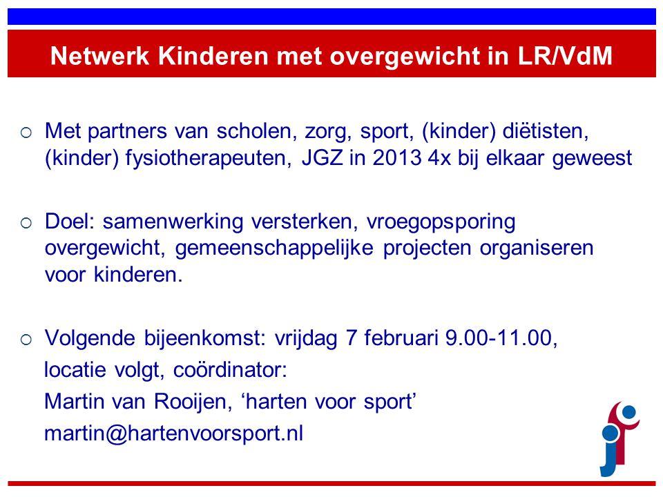 Netwerk Kinderen met overgewicht in LR/VdM