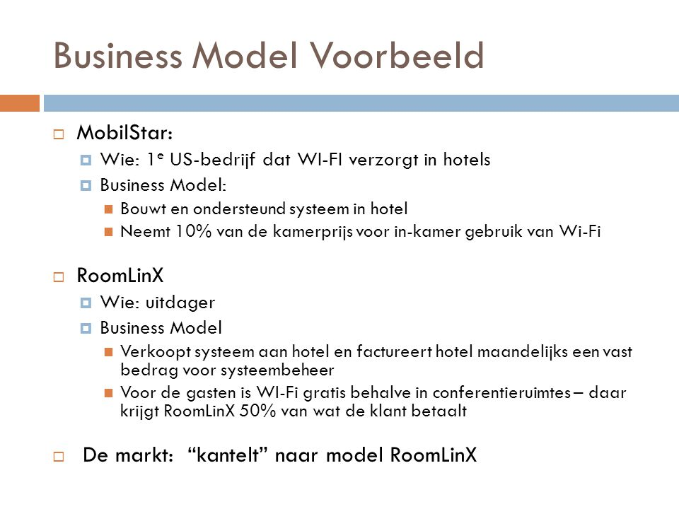 Business Model Voorbeeld