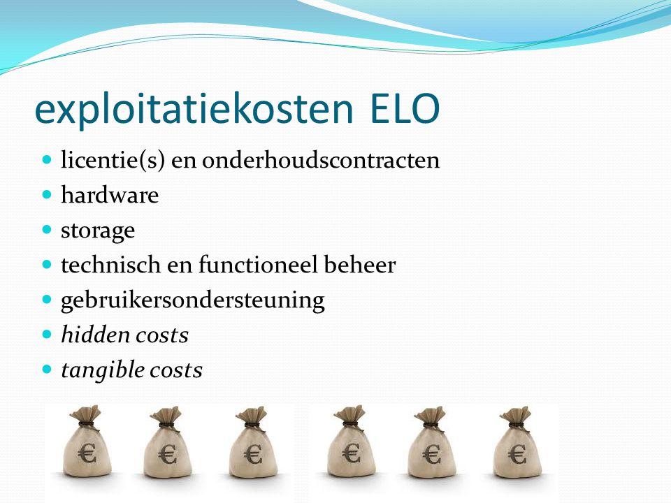 exploitatiekosten ELO