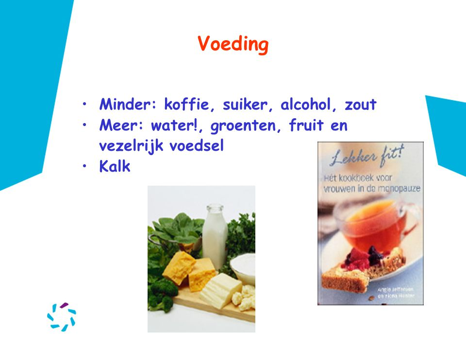 Voeding Minder: koffie, suiker, alcohol, zout