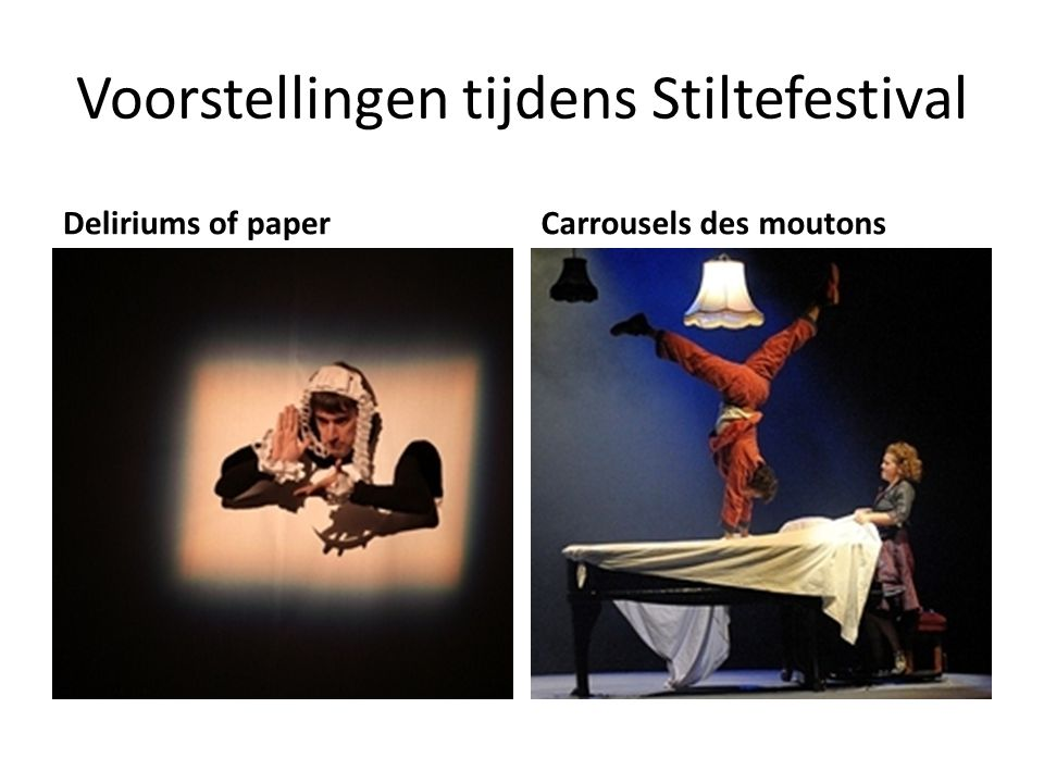 Voorstellingen tijdens Stiltefestival