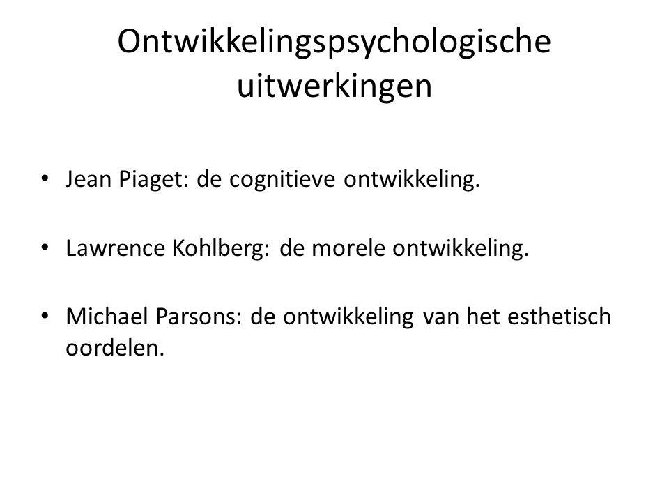 Ontwikkelingspsychologische uitwerkingen