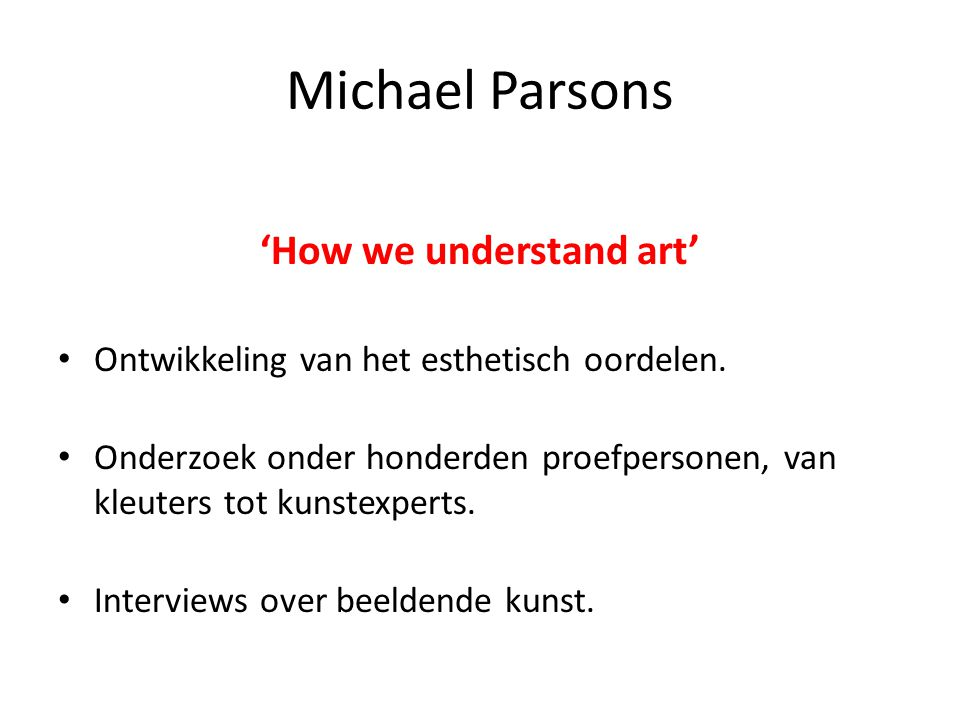 'How we understand art'