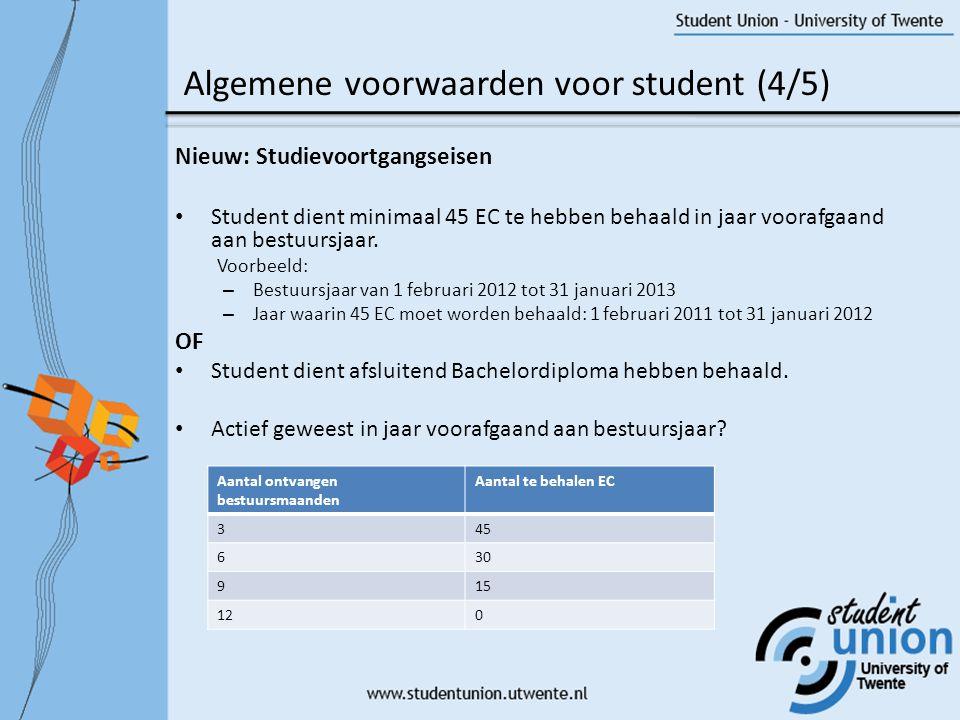 Algemene voorwaarden voor student (4/5)