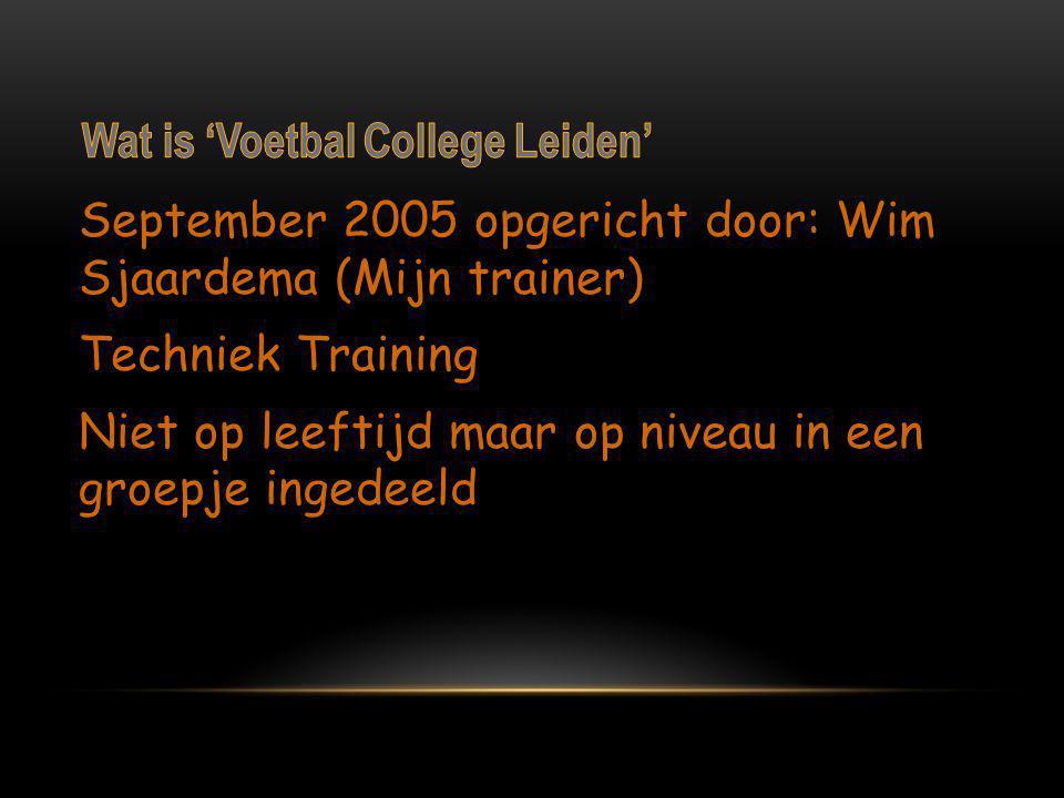 Wat is 'Voetbal College Leiden'