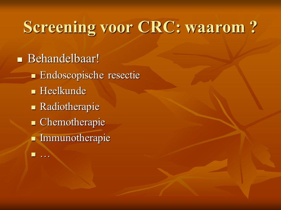 Screening voor CRC: waarom