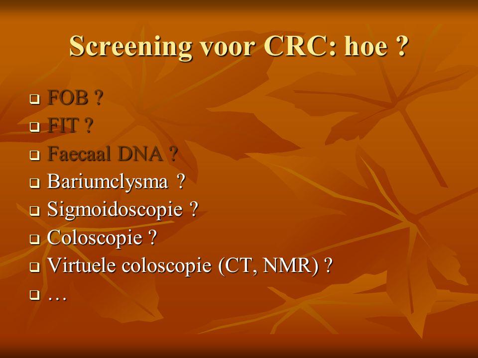 Screening voor CRC: hoe