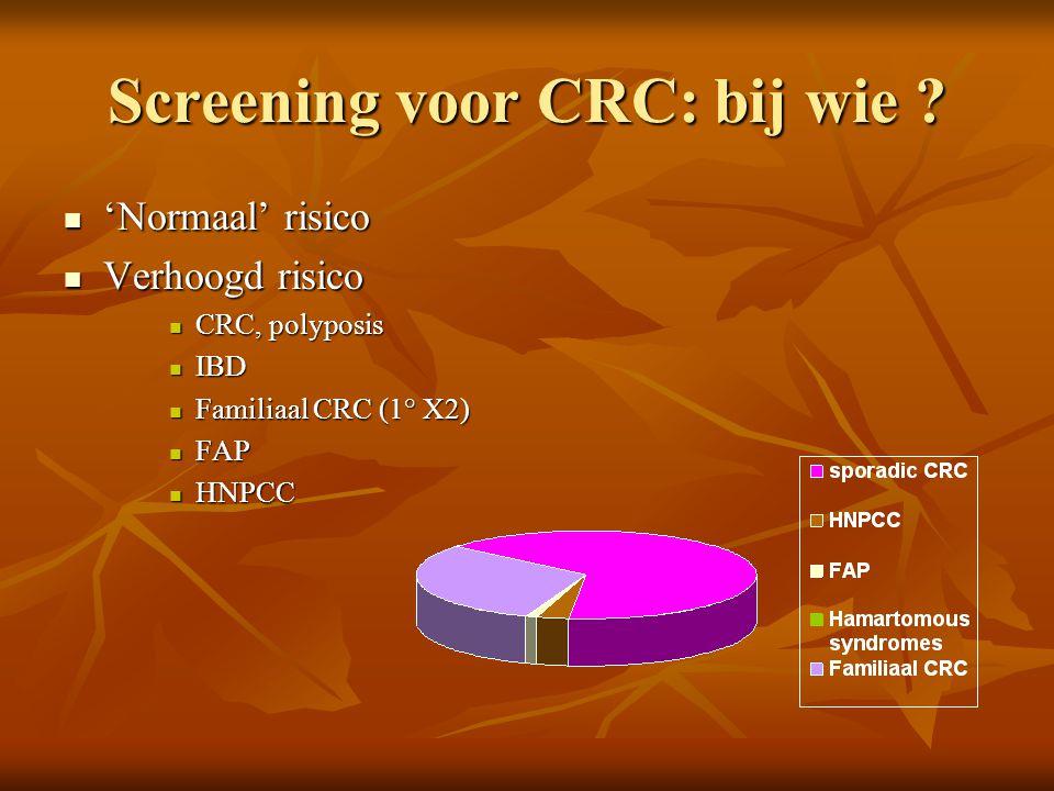 Screening voor CRC: bij wie
