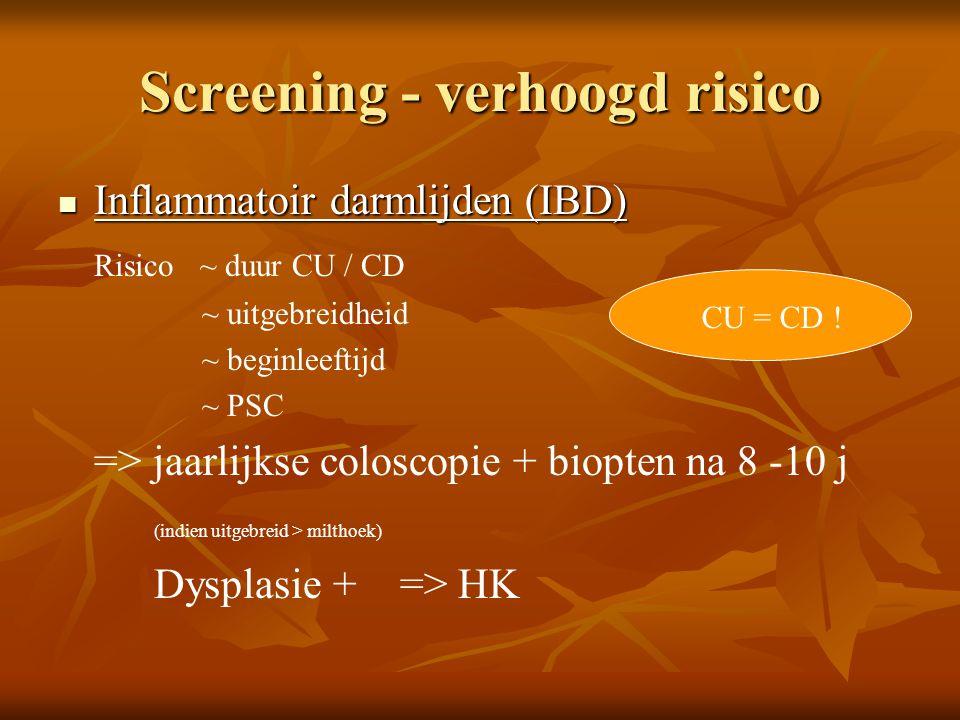 Screening - verhoogd risico