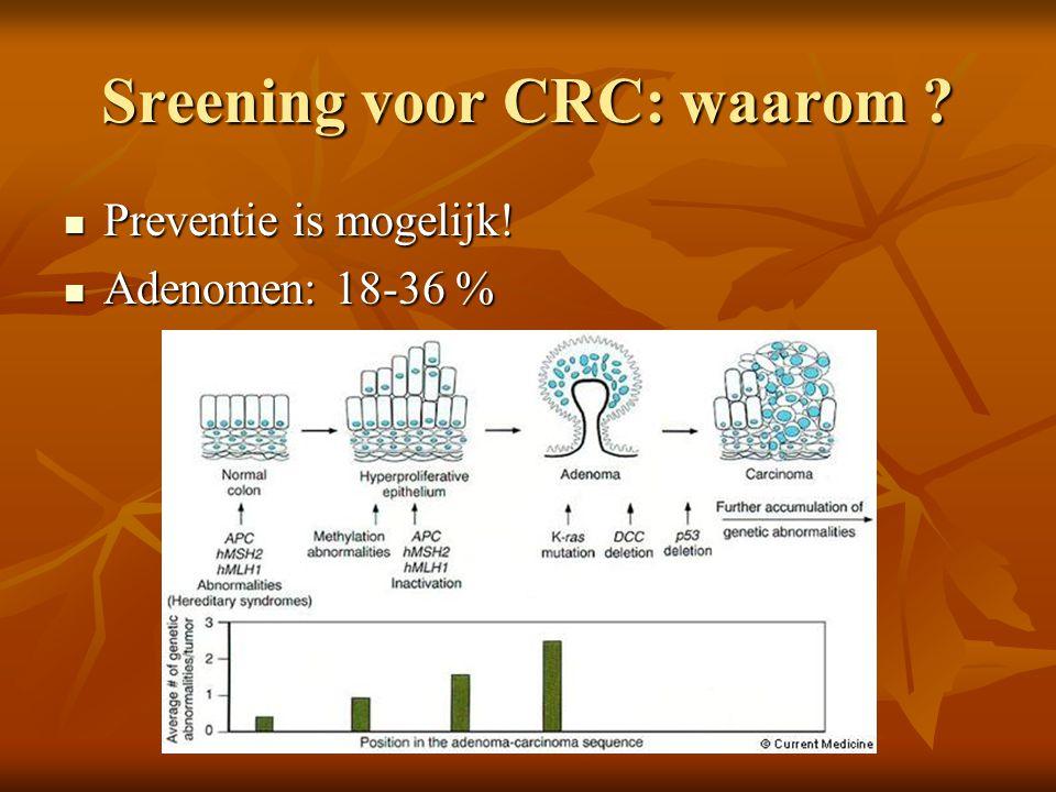 Sreening voor CRC: waarom