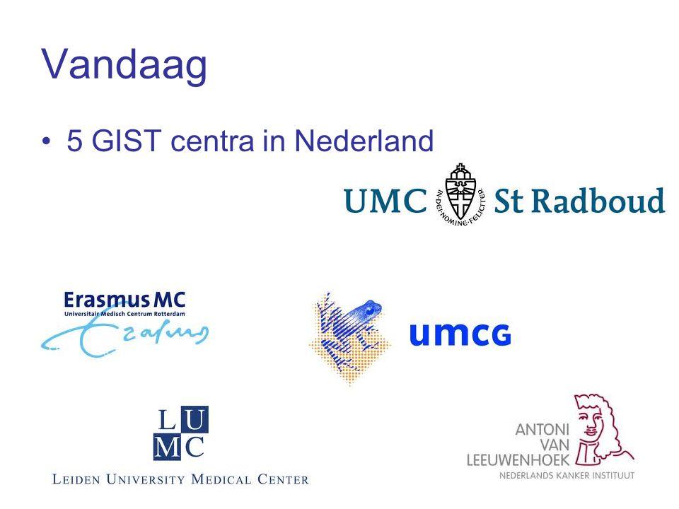 Vandaag 5 GIST centra in Nederland