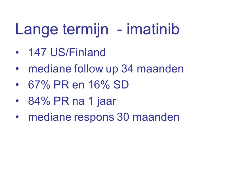 Lange termijn - imatinib