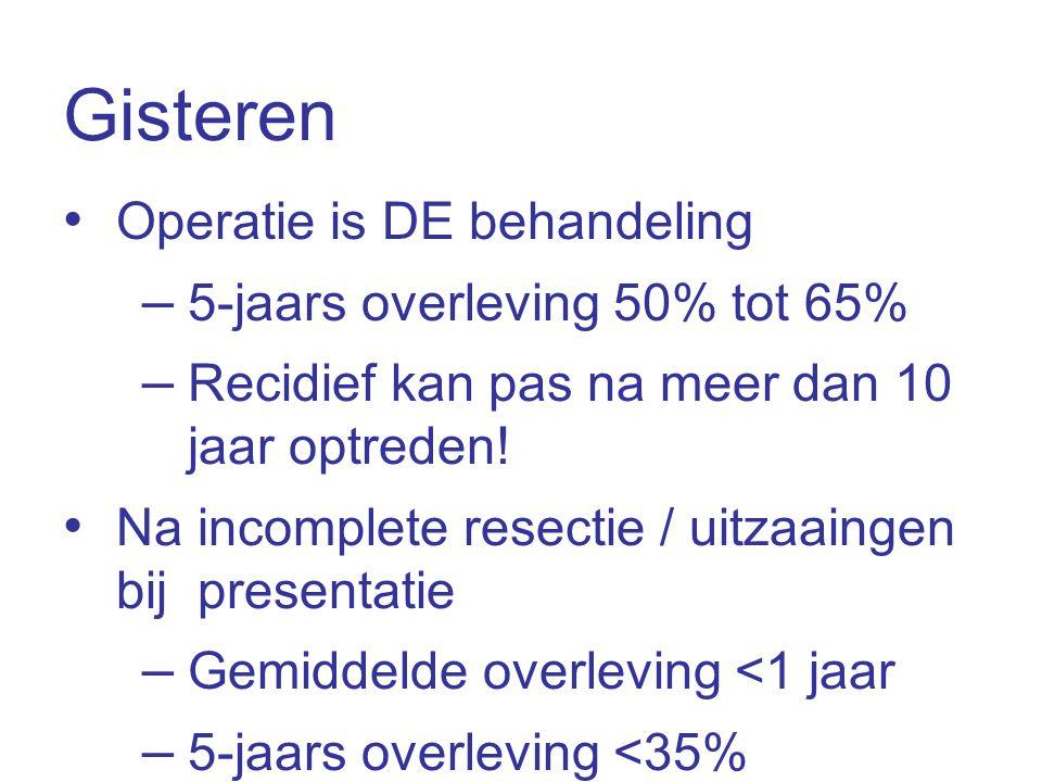 Gisteren Operatie is DE behandeling 5-jaars overleving 50% tot 65%