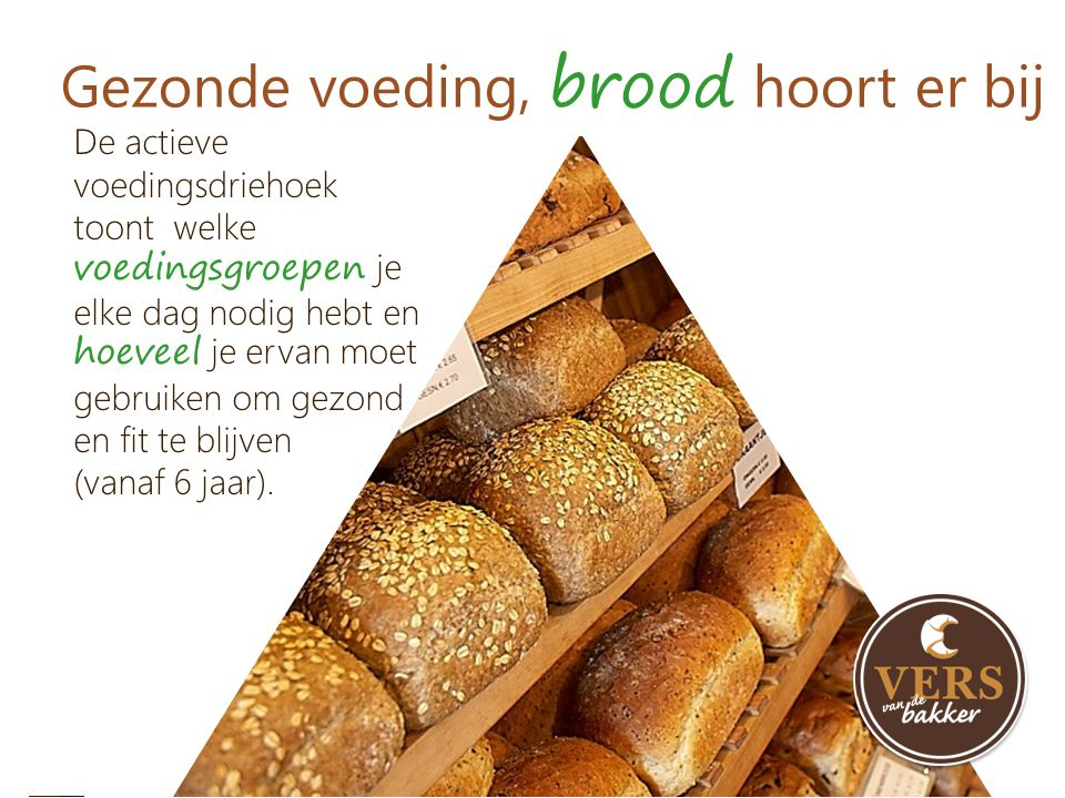 Gezonde voeding, brood hoort er bij
