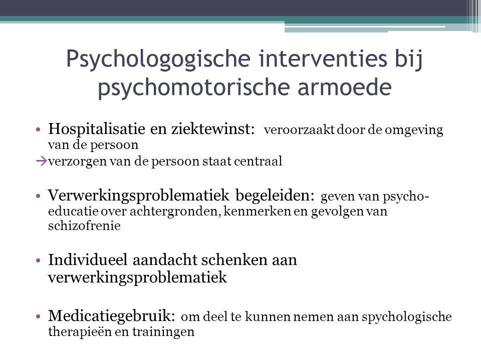 Psychologogische interventies bij psychomotorische armoede