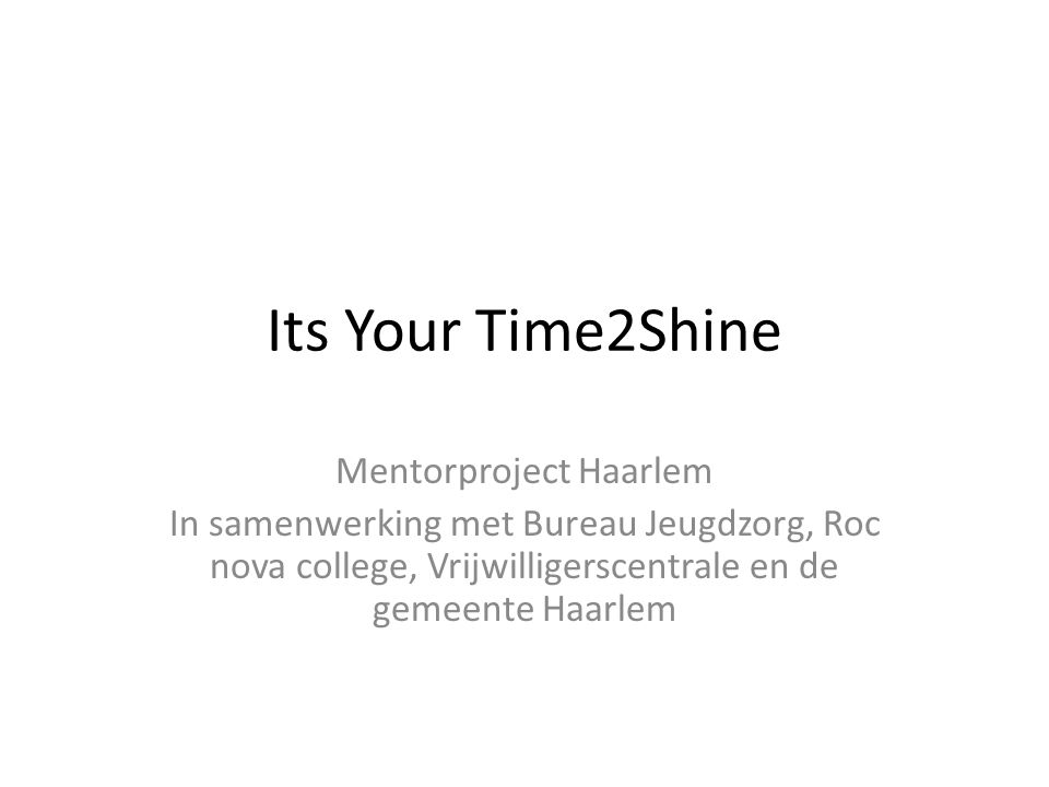 Mentorproject Haarlem