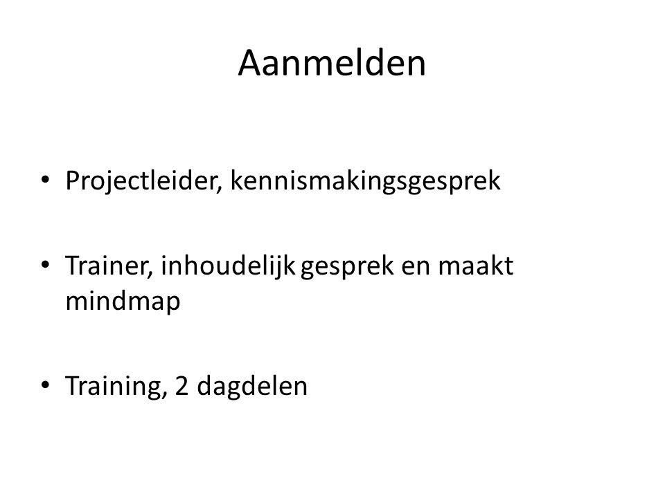 Aanmelden Projectleider, kennismakingsgesprek
