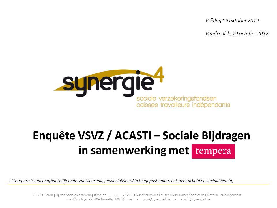 Enquête VSVZ / ACASTI – Sociale Bijdragen
