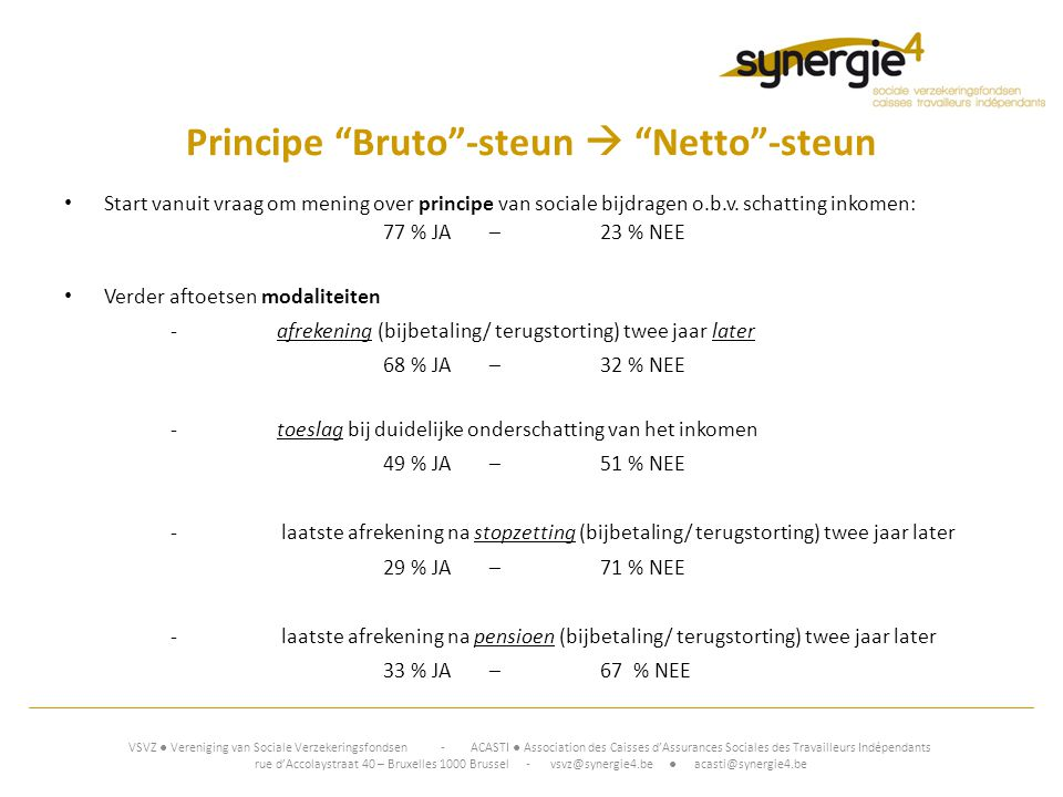 Principe Bruto -steun  Netto -steun