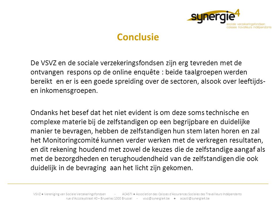 www.synergie4.be 19/10/2012. Conclusie.