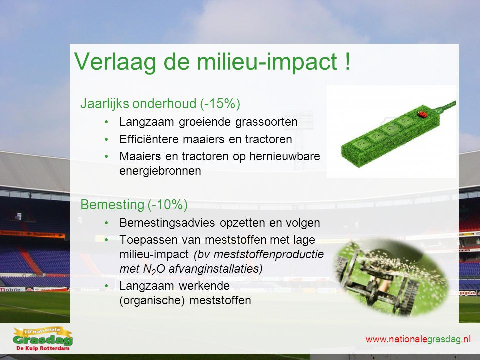 Verlaag de milieu-impact !