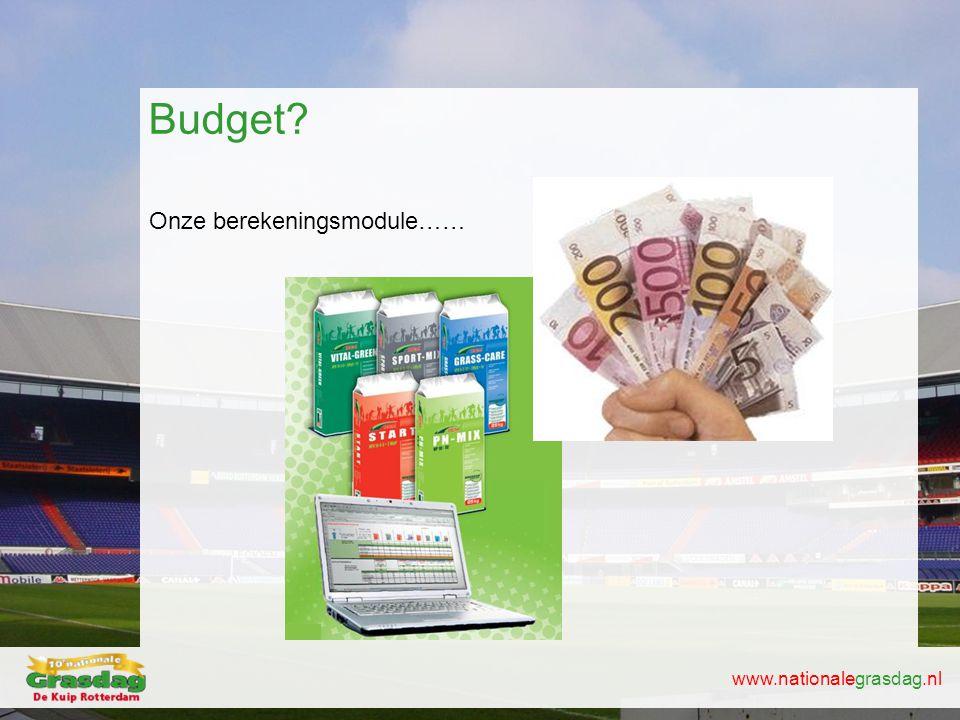 Budget Onze berekeningsmodule……