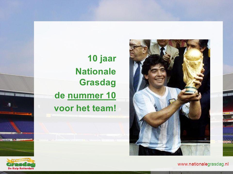 10 jaar Nationale Grasdag de nummer 10 voor het team!