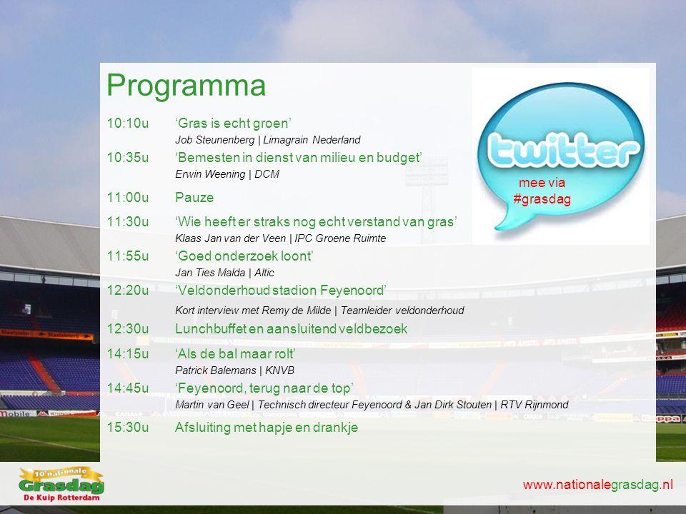 Programma 10:10u 'Gras is echt groen'