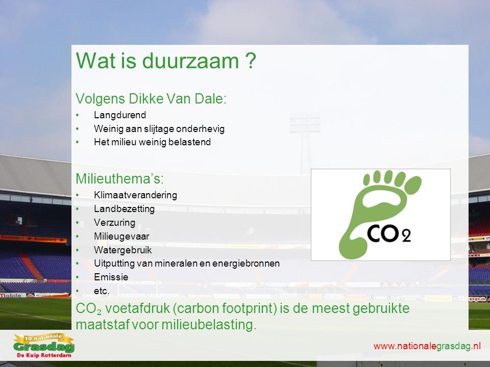Wat is duurzaam Volgens Dikke Van Dale: Milieuthema's: