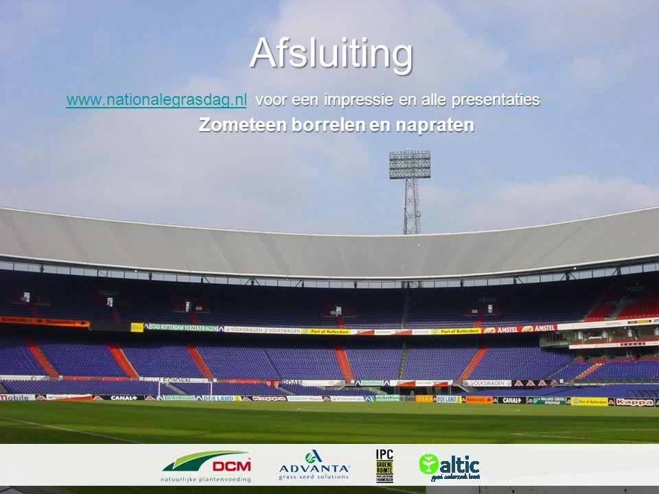 Afsluiting www.nationalegrasdag.nl voor een impressie en alle presentaties.