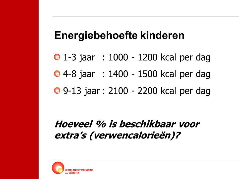 Energiebehoefte kinderen