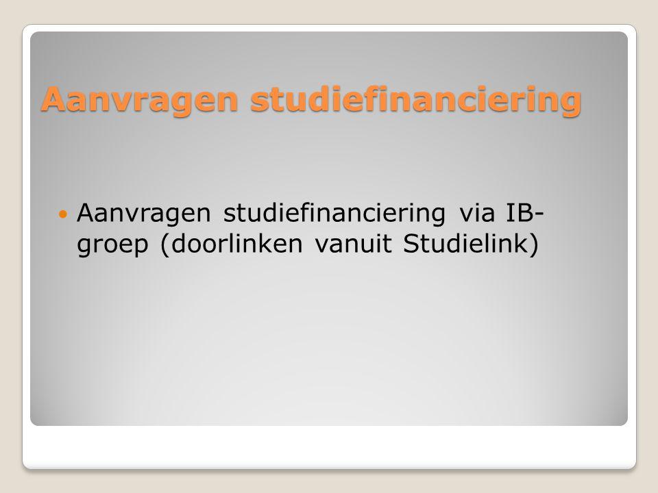 Aanvragen studiefinanciering