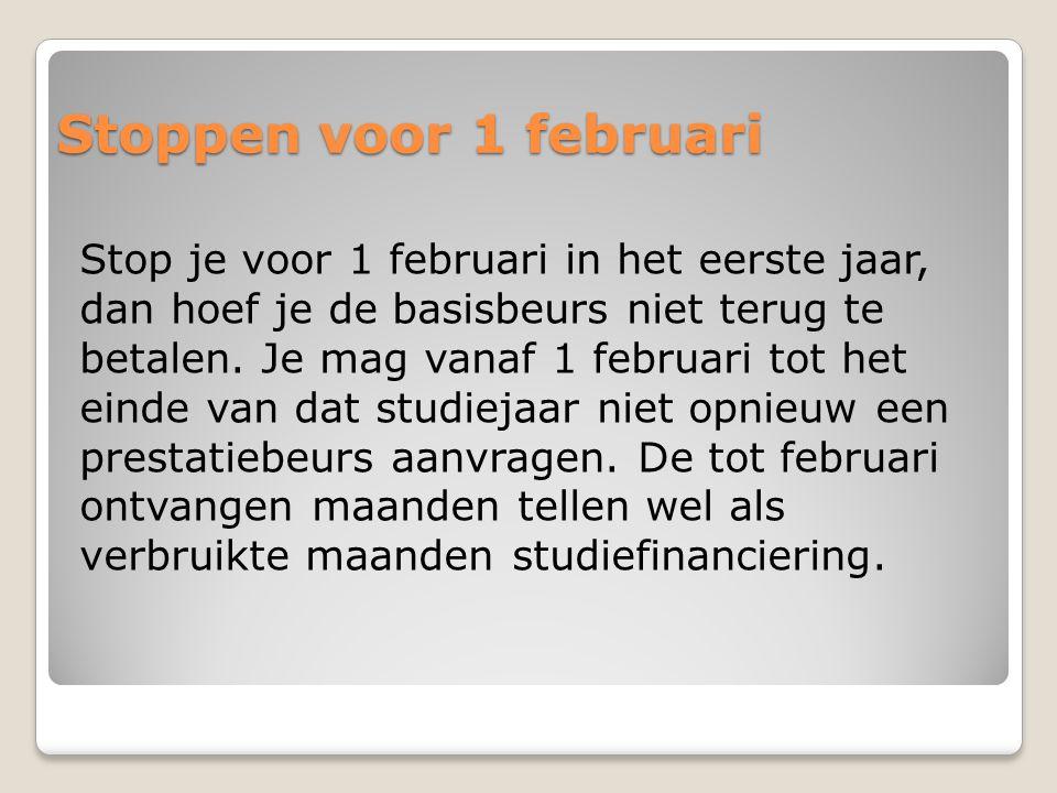 Stoppen voor 1 februari