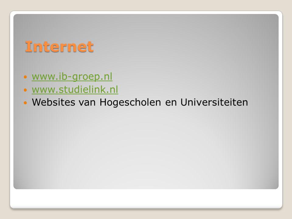 Internet www.ib-groep.nl www.studielink.nl