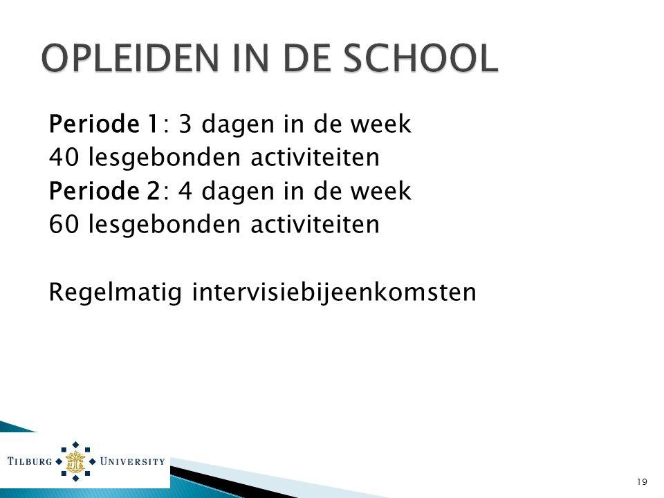 OPLEIDEN IN DE SCHOOL