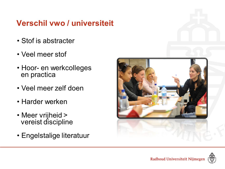 Verschil vwo / universiteit