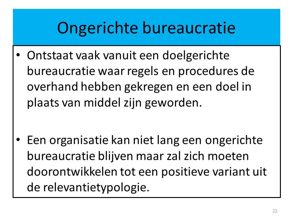 Ongerichte bureaucratie