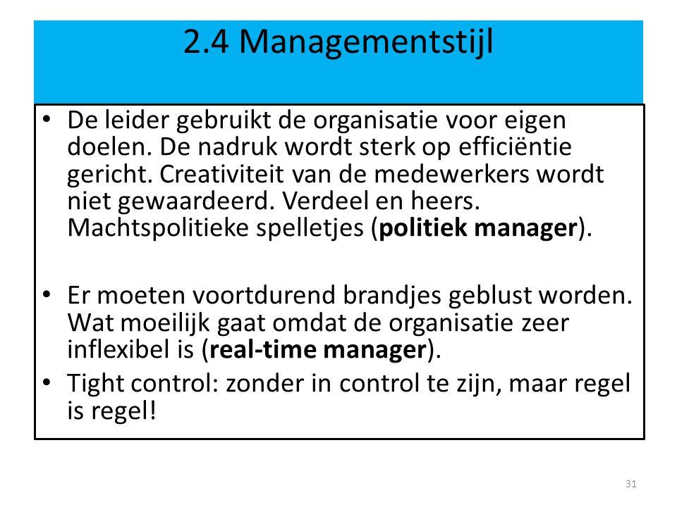 2.4 Managementstijl