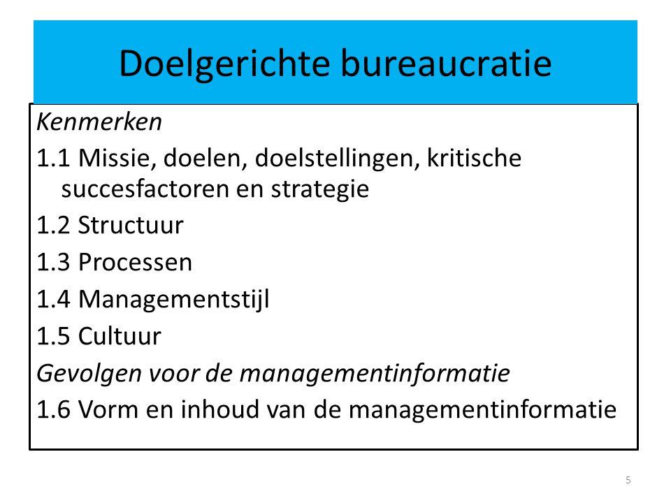 Doelgerichte bureaucratie