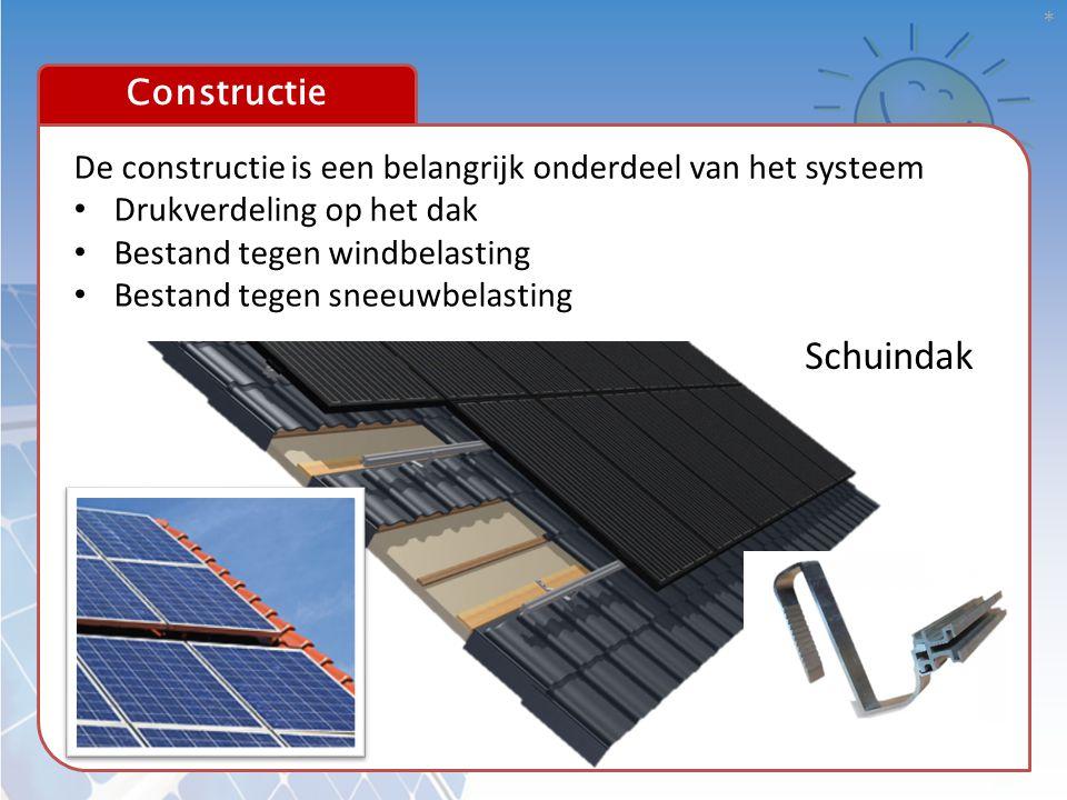 Schuindak Constructie