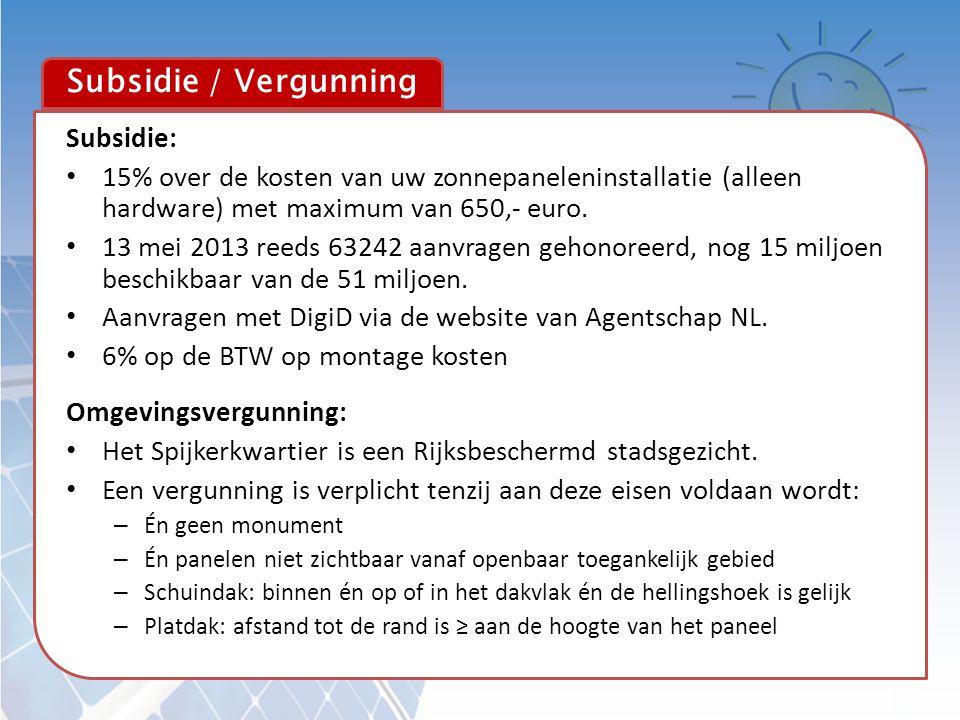Subsidie / Vergunning Subsidie: