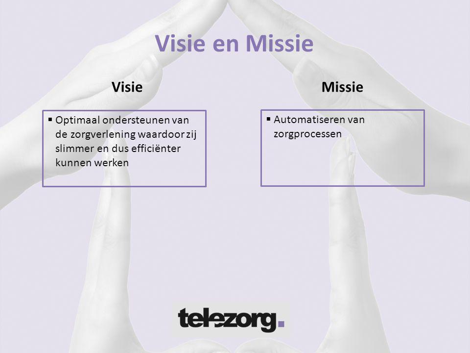 Visie en Missie Visie Missie Optimaal ondersteunen van