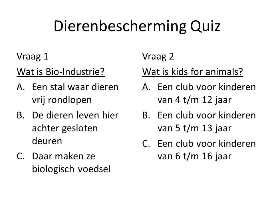 Dierenbescherming Quiz