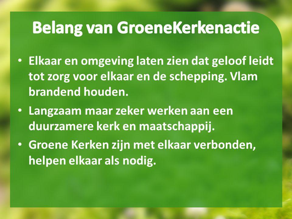 Belang van GroeneKerkenactie