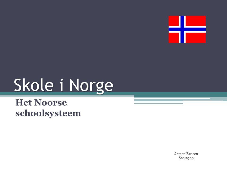 Het Noorse schoolsysteem