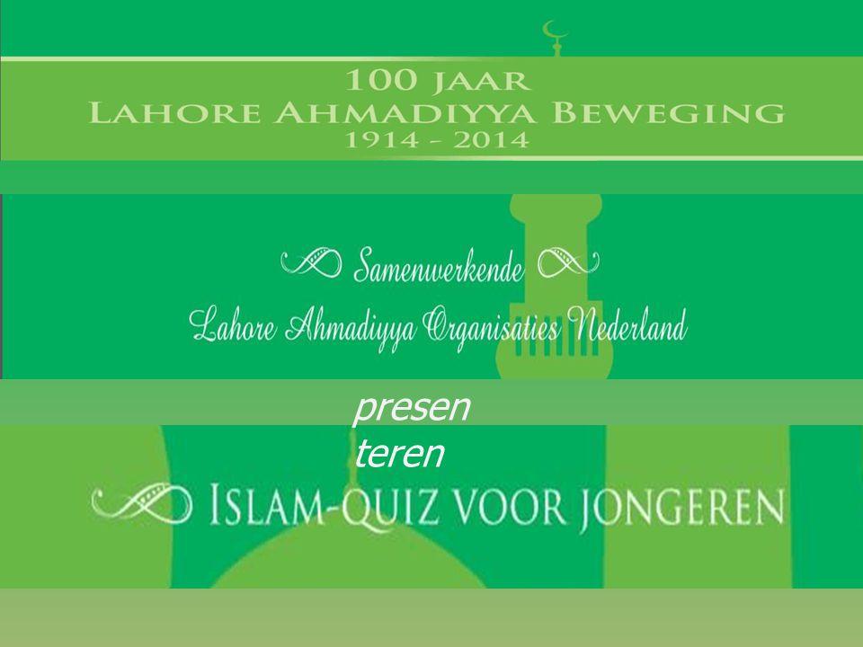presenteren 1a. Het woord Islam heeft 2 hoofdbetekenissen.