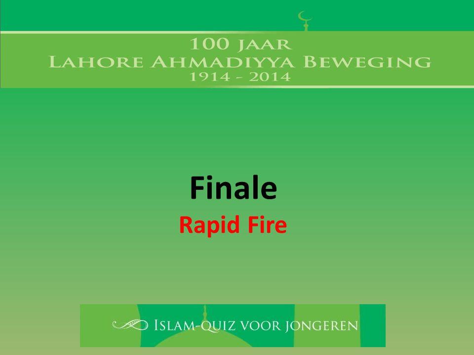 Finale Rapid Fire